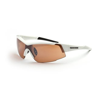 Optic Nerve 'Eyres' White Sport Sunglasses with 2 Lens Pairs