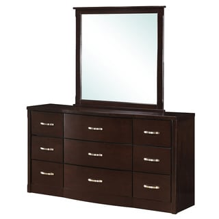 Hanna Collection Dark Espresso Finish Mirror