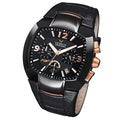 Viceroy Spain Men's Falonso Black Case Chronograph Date Leather Watch