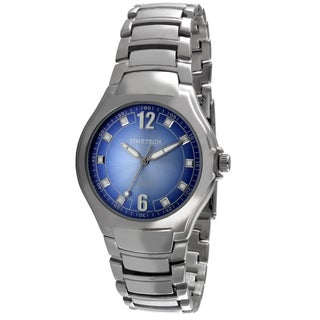 Timetech Men's Silvertone Blue Dial Watch