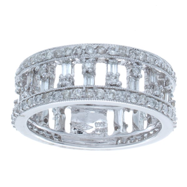 14k White Gold 1 1/3ct TDW Diamond Anniversary Band (I-J, I1-I2)
