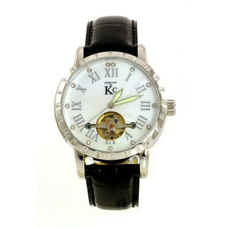 Techno Com by KC Men's Skeleton Window Watch