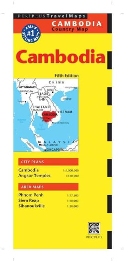 Periplus Cambodia Travel Map (Sheet map, folded)