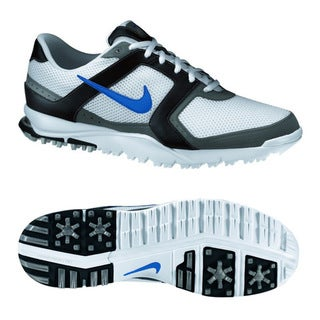 Nike Men's Air Range WP White/ Blue/ Black Golf Shoes