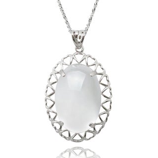 De Buman Sterling Silver Moonstone Necklace