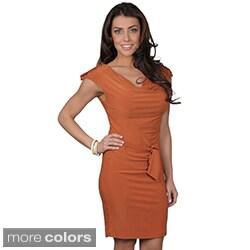 Journee Collection Women's Sleeveless Cowl Neck Dress