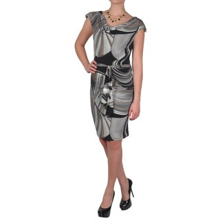Journee Collection Women's Printed Sleeveless Cowl Neck Dress