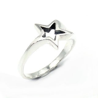 Sterling Silver Dazzling Shooting Star Ring (Thailand)