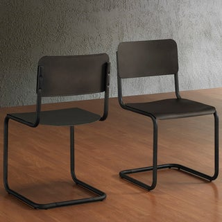 Emerson Metal Dark Brown Retro Dining Chairs (Set of 2)