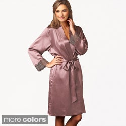 Julianna Rae Women's Luxury Le Soir Dream Short Silk Robe