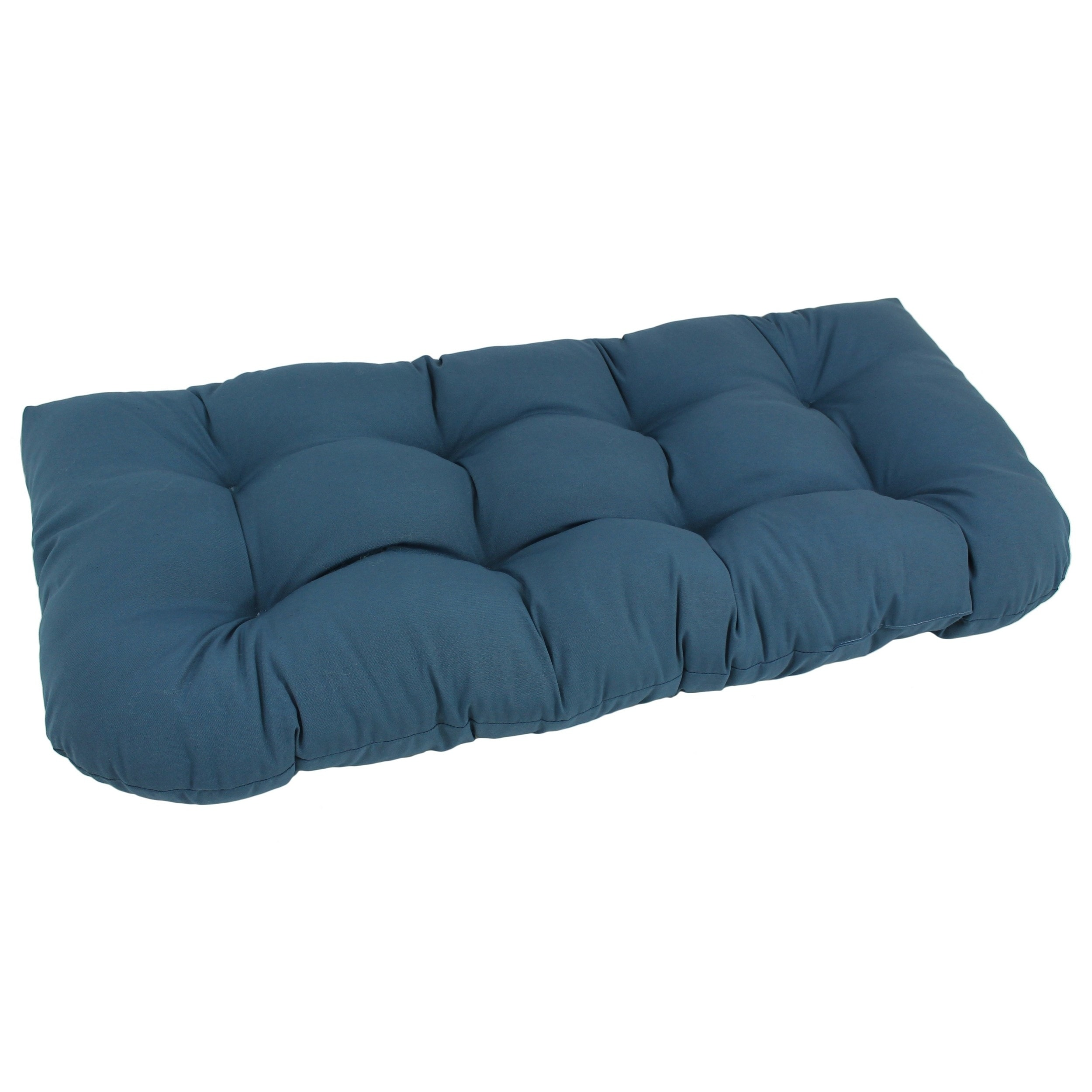 Blazing Needles Solid 42-inch U-Shaped Tufted Twill Settee Cushion at Sears.com