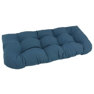 Blazing Needles Solid 42-inch U-Shaped Tufted Twill Settee Cushion