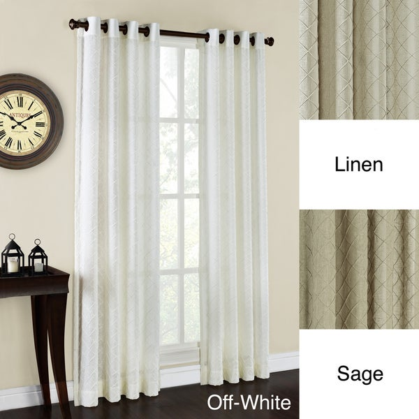 Sierra Geometric Pattern Grommet Curtain Panel