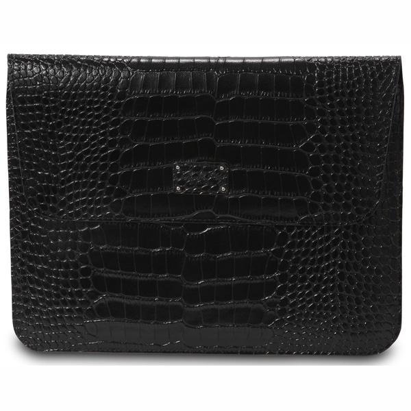 Morelle Ryan Genuine Split Crocodile Leather iPad Holder with Flap