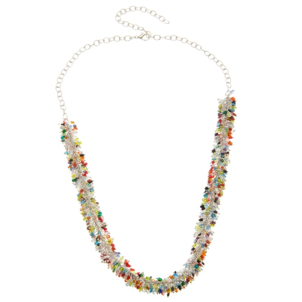 Multi-Colored Glass Bead Chip Necklace (India)