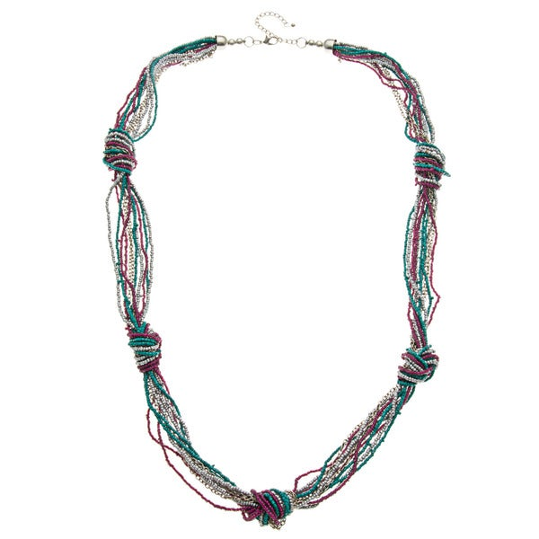 Knotty Look Multi-Strand Seed Bead Necklace (India)
