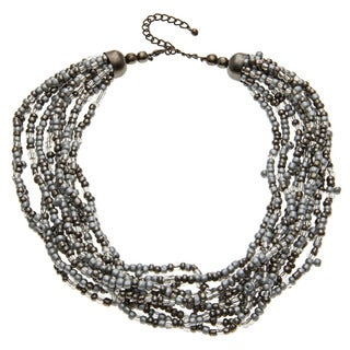 Grey and Clear Glass Moonspell Necklace (India)