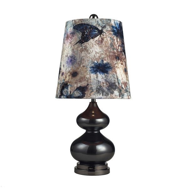 Dimond Lighting Grey Glass and Black Nickel 1-light Table Lamp