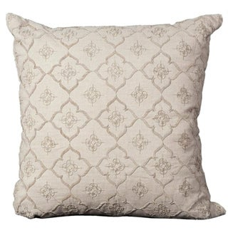 Mina Victory Luminecence Natural Linen 20 x 20-inch Decorative Pillow by Nourison