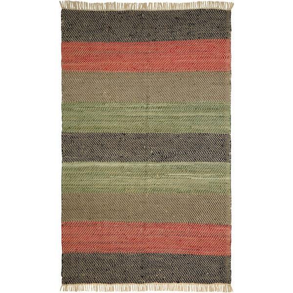 Hand-woven Matador Striped Leather Area Rug (9' x 12')