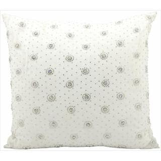 Mina Victory Luminecence' Ivory Embroidred 18 x 18-inch Decorative Pillow by Nourison