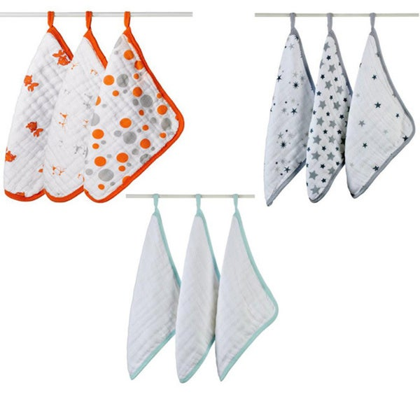 aden + anais Muslin Four-Layer Washcloth Set (Pack of 3)