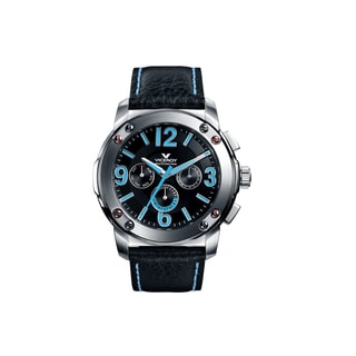 Viceroy Spain Men's 'Vimar12' Blue/ Black Day/Date/Dual Time Zone Watch