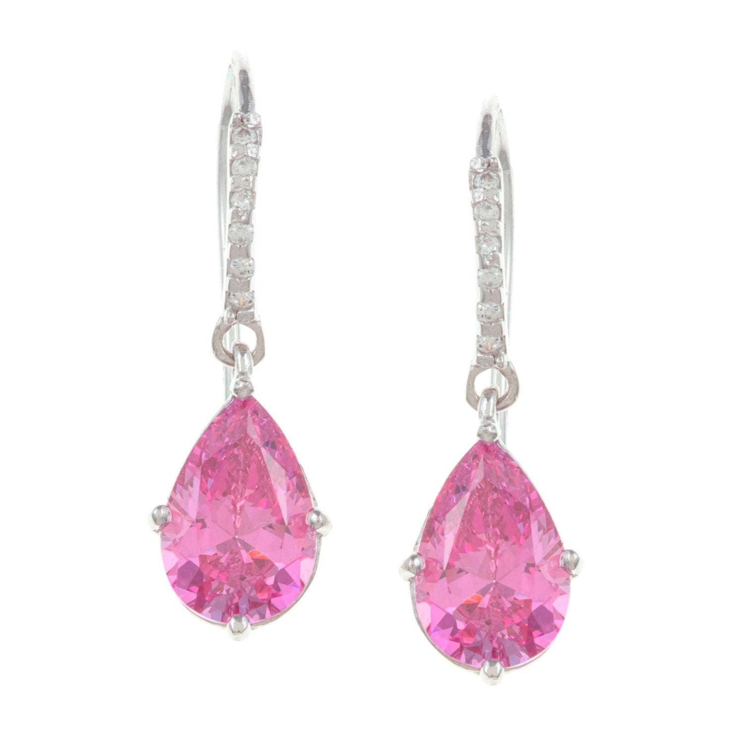 Sunstone Sterling Silver Pink Dangle Earrings Made with SWAROVSKI ZIRCONIA at Sears.com