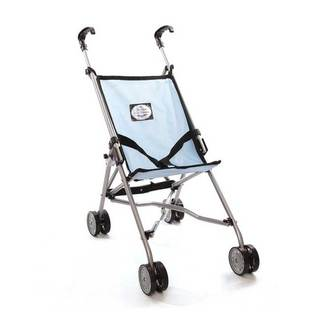 The New York Doll Collection Blue Umbrella Doll Stroller