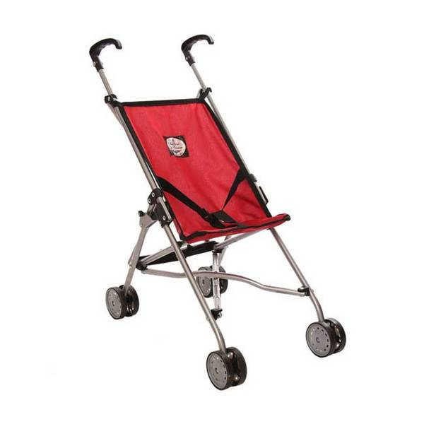 The New York Doll Collection Red Umbrella Doll Stroller