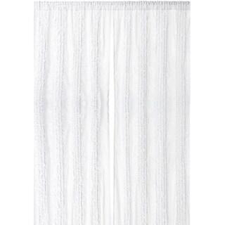 White Ruffled Luxury 96-inch Curtain Panel
