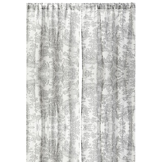 Toile Linen 96-inch Curtain Panel
