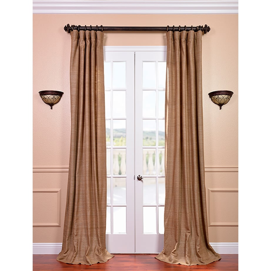 EFF Raw Silk Sandlewood Curtain Panel at Sears.com