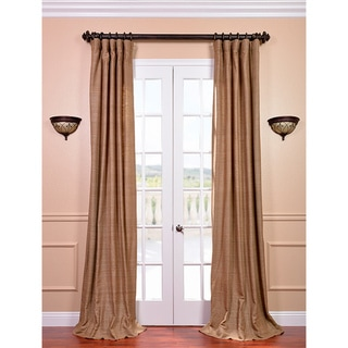 Raw Silk Sandlewood Curtain Panel