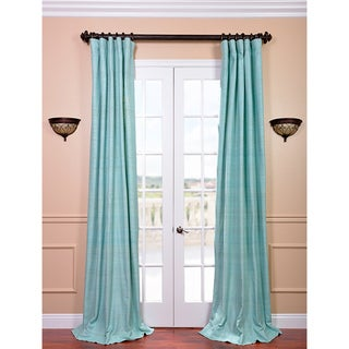 Raw Silk Cabo Mist Curtain Panel