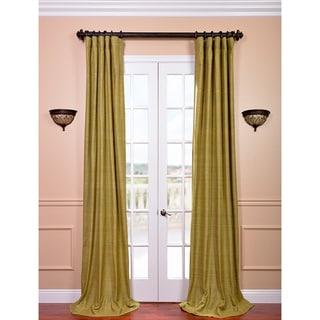 Raw Silk Spanish Moss Curtain Panel
