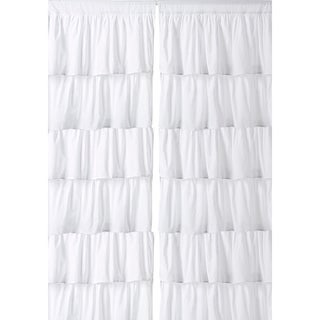 Cotton Ruffled Layered 96-inch Curtain Panel