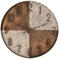 Creative Interpretation Bronze Metal Wall Clock