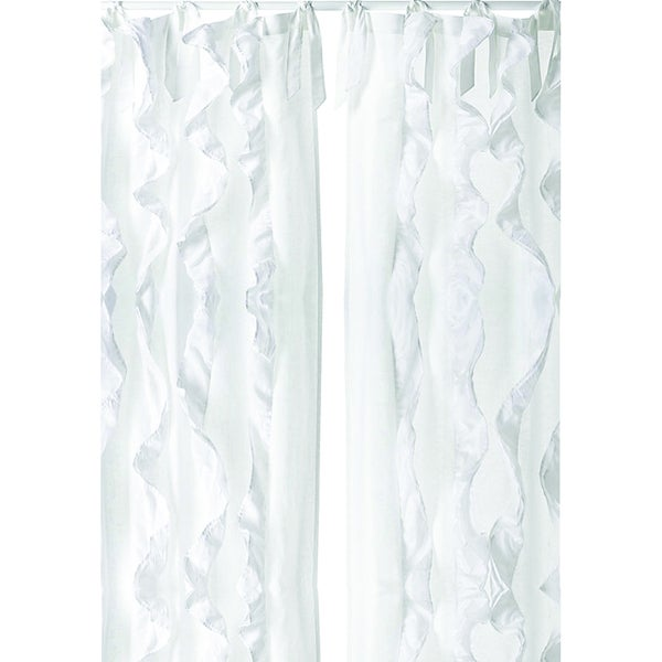 White Tuxedo Elegant 96 inch Curtain Panel