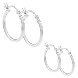 Sunstone Sterling Silver High Polish Hoop Earring Set