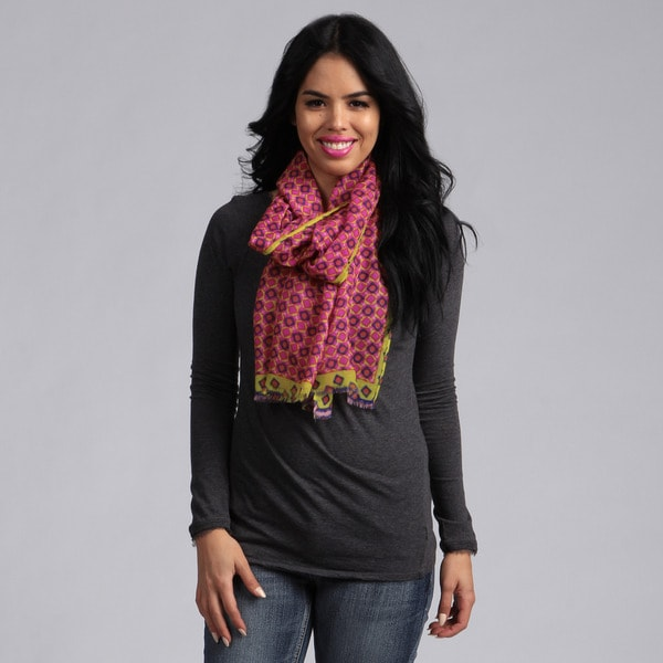 KC Signatures Wool Geo Print Scarf