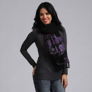 KC Signatures Purple Splash Wool Scarf