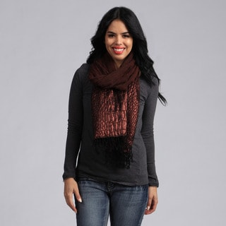 KC Signatures Brown Shimmer Wool Scarf