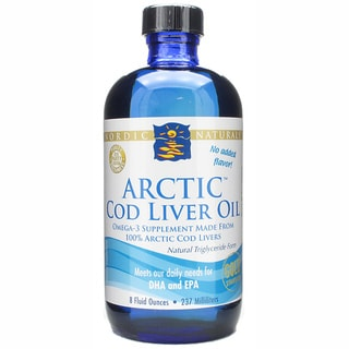 Nordic Naturals Unflavored Arctic Cod Liver Oil 8-ounce Liquid Supplement