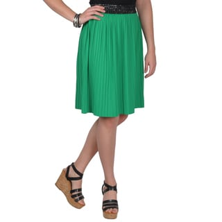 Machine-Washable Journee Collection Juniors Banded Waist Pleated Skirt