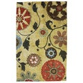 Yellow Medallion Multi Rug (5' x 8')