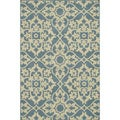 Annabelle Blue/ Ivory Rug (5&#39;2 x 7&#39;5)