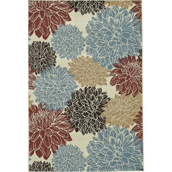 Annabelle Ivory Floral Rug (3'11 x 5'10)