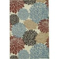 Annabelle Ivory Floral Rug (5&#39;2 x 7&#39;5)