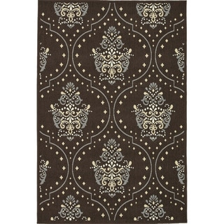 Annabelle Brown/ Blue Indoor/ Outdoor Rug (5'2 x 7'5)
